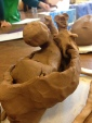 Clay is a great medium for exploring issues of the body and can be very rewarding to use